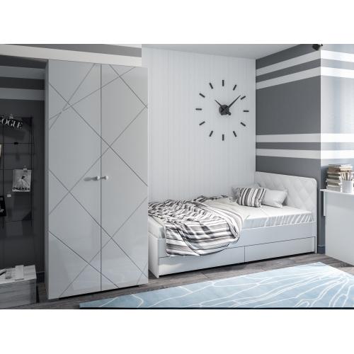 """Кровать с ящиками 1200 исп. 3 """"Абрис"""""""