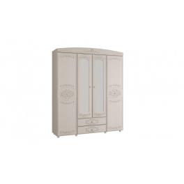 """Шкаф 4-х дверный комбинированный с зеркалом """"Каролина"""""""